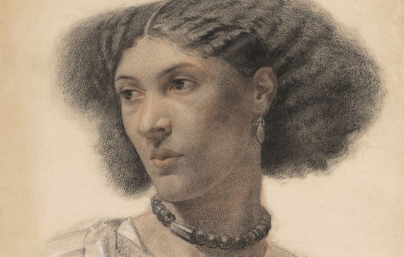 Drawing of artists' model Fanny Eaton by Walter Fryer Stocks (c.1859)