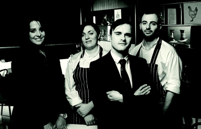 Left to right: Julia Possebon, general manager, Tiziana Brunzu, sous chef, Mattia Mazzi, restaurant manager and Oren Goldfeld, head chef