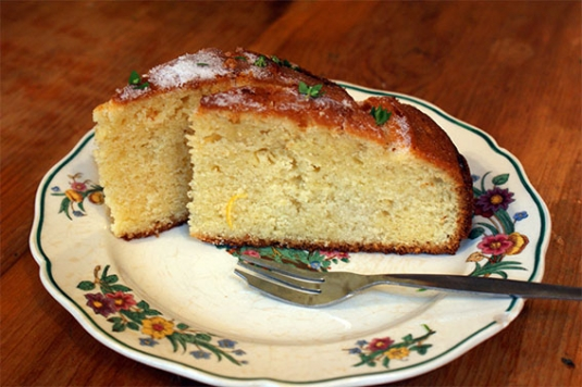 Lemon and Thyme Madeira Cake